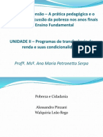 Curso de Extensão - A prática pedagógica e o currículo na discussão da pobreza