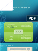 Development of Fintech In