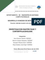 Investigacion Masterpage,Contentplaceholder