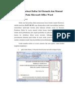 Cara Membuat Daftar Isi Otomatis Pada Microsoft Office Word - Arloji (1)
