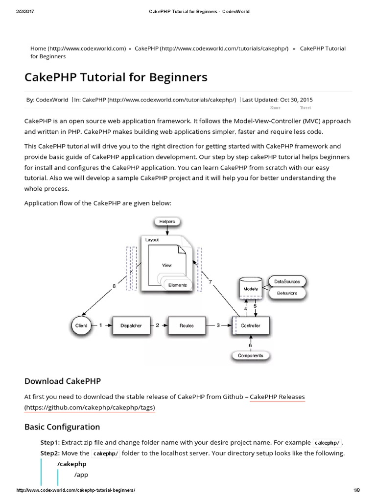 Cakephp Tutorial For Beginner Pdf