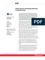 Advanced Info Service Case Study