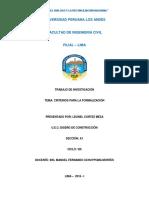 Diseño de Construcción - Criterios Para La Formalización -2018-i