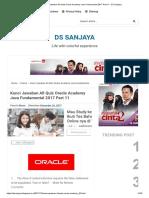 Kunci Jawaban All Quiz Oracle Academy Java Fundamental 2017 Part 11 - DS Sanjaya