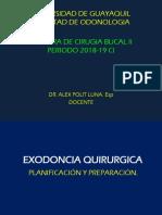 Cirugia Bucal II. Primera Clase. 2018-19 Ci.