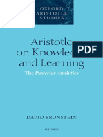 Aristotle on Knowledge and Learning _ the Posterior Analytics (2016, Oxford University Press)