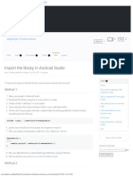 Import the Library in Android Studio