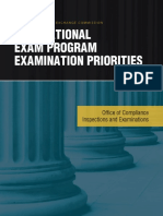 National Examination Program Priorities 2018