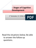 Piaget's Stages of Cognitive Development1315