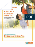Childsurance Savings Protection Insurance Plan_Brochure