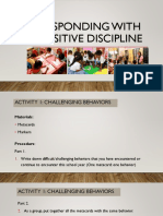 Responding With Positive Discipline