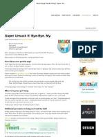 Mule Design Studio's Blog  Super Unsuck It! Bye-Bye, My