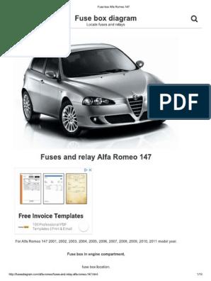 Alfa 147 Fuse Box Alfa Romeo Fuse Box Diagram on