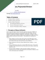 Binary Polynomial Division