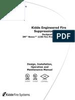 Kidde Novec 1230 Design, Installation, Operation and Maintenance Manual