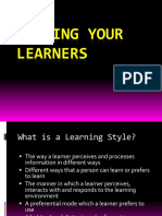 Learning Style Andteaching Style Know Your Learners-2010