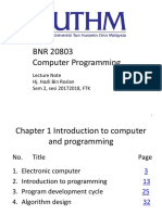 Lecture Note 1. Introduction to Computer and Programming