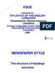 Newspaper and Business Styles