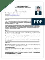 CV Tejendrasinh
