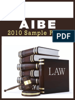 AIBE 2010 Sample Paper