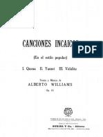 Williams - Canciones Incaicas (Quena, Yaravi, Vidalita)