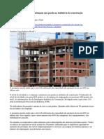 Atividade e Emprego Continuam Em Queda Na Indústria Da Construção