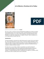 Algunos Aspectos de La Historia y Doctrinas de Los Nathas