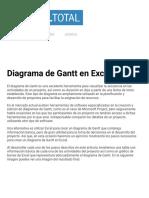 Diagrama de Gantt en Excel - Excel Total.pdf