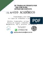 PRODUÇÃO TEXTUAL INTERDISCIPLINAR EM GRUPO
