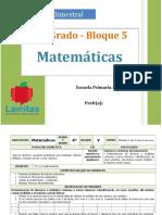 Plan 6to Grado - Bloque 5 Matemáticas.doc