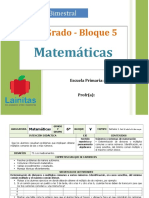 Plan 6to Grado - Bloque 5 Matemáticas.doc