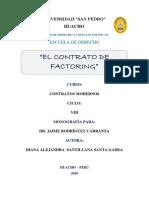 Presentación de Contrato de Factoring