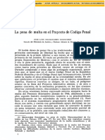 La Pena de Multa en El Proyecto de Codigo Penal-46159