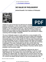 The Value of Philosophy by Bertrand Russell