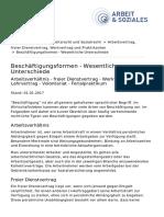 Arbeits- Und Sozialrecht Beschäftigungsformen WKO 2017 (1)