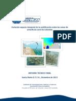Variación Espacio-Temporal de La Acidificación Sobre Las Zonas de Arrecife de Coral de Colombia