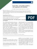 A decreased peritumoral
