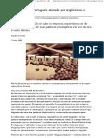 o Português Atacado Por Anglicismos e Gerundismos - Opinião e Notícia