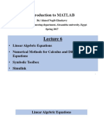 Matlab Lecture 6