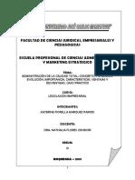 Monografia Admninistracion de La Calidad Total - Katerine Parodi