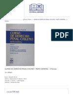Curso de Derecho Penal Chileno - Parte General - 2 Tomos - Editorial Libromar