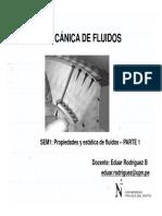 Sesión 1 - MECFLU - Propiedades y Estática de Fluidos - Propiedades