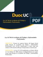 Ley 16744 Accidentes Del Trabajo y Enfermedades Prof.