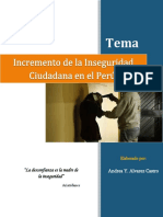 Incremento de la Inseguridad Ciudadana en el Perú (2015)