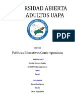Tarea 1 Políticas Educativas Contemporánea