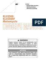 Kawasaki KLX250S Owners Manual - 01 Top