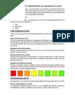 Ejemplificacion y Descripcion de Las Cualidades Del Color