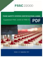 Supplement Fssc 22000 and Fsma v1 Final September 2017
