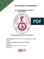 Control II de CIRCUITOS ELÉCTRICOS 1 UNI