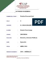 Actividad Academica Prac Procesal Civil
